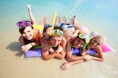 Équipe des plongeurs Photo stock