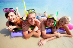 Équipe des plongeurs Image stock