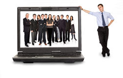 Équipe en ligne d'affaires Image libre de droits