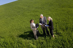 Équipe environnementale de planification photo libre de droits