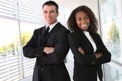 Équipe ethnique d'affaires