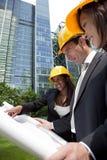 Équipe exécutive de construction Image libre de droits