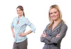 Équipe féminine d'affaires d'isolement sur le blanc Images libres de droits
