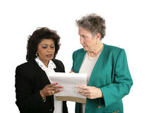Équipe féminine d'affaires - intéressée Photographie stock