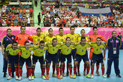 Équipe futsal nationale de Colombie photos stock