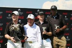 Équipe gagnante de tournoi de Gary Player pendant la deuxième année sur Novemb Photos stock