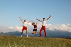 Équipe heureuse Image libre de droits