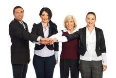 Équipe heureuse de gens d'affaires uni Images libres de droits