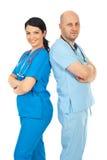 Équipe heureuse des médecins image libre de droits