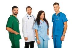 Équipe heureuse des médecins photos libres de droits