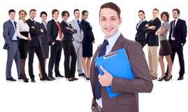 Équipe heureuse réussie d'affaires Image stock