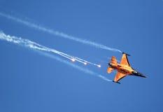 Équipe hollandaise de la démonstration F-16 Images libres de droits