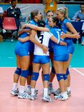 Équipe italienne de volleyball Images stock