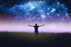 Équipe la silhouette Éléments de cette image meublés par la NASA Images libres de droits