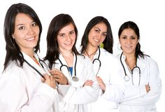 Équipe médicale avec des femelles seulement Photographie stock