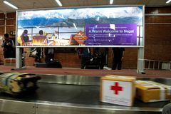 Équipe médicale de mouche de la Thaïlande de Bangkok vers Katmandou à l'admi Photos libres de droits