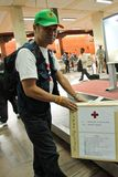 Équipe médicale de mouche de la Thaïlande de Bangkok vers Katmandou à l'admi Photo libre de droits