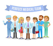 Équipe médicale Ensemble de personnel médical d'hôpital Médecins, infirmières illustration stock