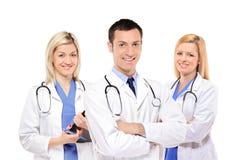 Équipe médicale heureuse des médecins Photo stock