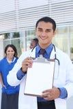 Équipe médicale réussie heureuse Photos stock