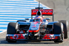 Équipe McLaren F1, Jenson Button, 2012 Photo libre de droits