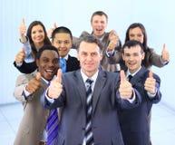 Équipe multi-ethnique heureuse d'affaires Photo libre de droits