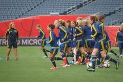 Équipe nationale de femmes de la Suède Photos libres de droits