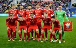 Équipe nationale de la Russie avant agai amical international de match Photos stock