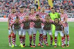 Équipe nationale du football croate Photographie stock libre de droits