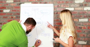 Équipe occasionnelle d'affaires faisant un brainstorm ensemble clips vidéos