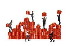 Équipe pour des cadeaux de Noël Photo stock