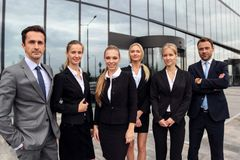 Équipe réussie d'hommes d'affaires Photos stock