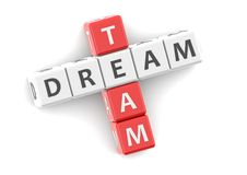 Équipe rêveuse Photos libres de droits