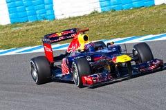 Équipe Red Bull F1, repère Webber, 2012 Images libres de droits