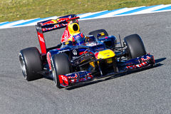 Équipe Red Bull F1, repère Webber, 2012 Image stock
