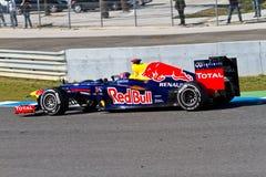 Équipe Red Bull F1, repère Webber, 2012 Photos stock