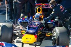 Équipe Red Bull F1, Sebastian Vettel, 2012 Images stock