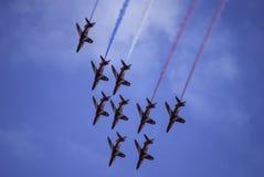 Équipe rouge de fête aérienne de flèches image stock