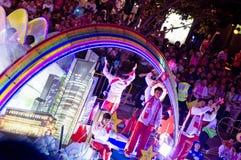 Équipe Singapour au défilé 2009 de Chingay Image libre de droits