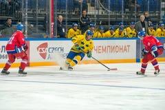 Équipe suédoise Anders Carlsson en avant (10) Photo stock