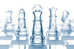 Équipe transparente d'échecs Images stock