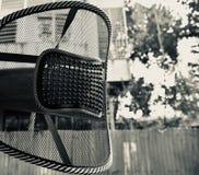 Équipement arrière d'isolement de soutien d'une chaise photo stock
