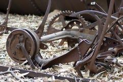 Équipement désuet de ferme à la ferme, livre de Wilpena, Australie du sud photos libres de droits