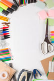 Équipement d'école avec le papier Photos libres de droits