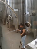 Équipement d'établissement vinicole du Long Island Image libre de droits