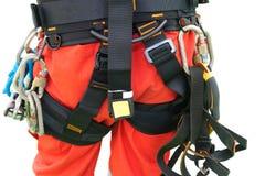 Équipement d'accès de corde pour l'inspecteur image libre de droits