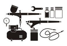 Équipement d'aerographe - pictogramme illustration stock