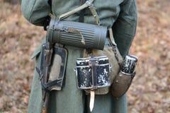 Équipement d'Allemand de la guerre mondiale 2 Photos libres de droits