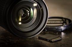 Équipement d'appareil-photo Images libres de droits