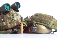 Équipement d'armée Images libres de droits